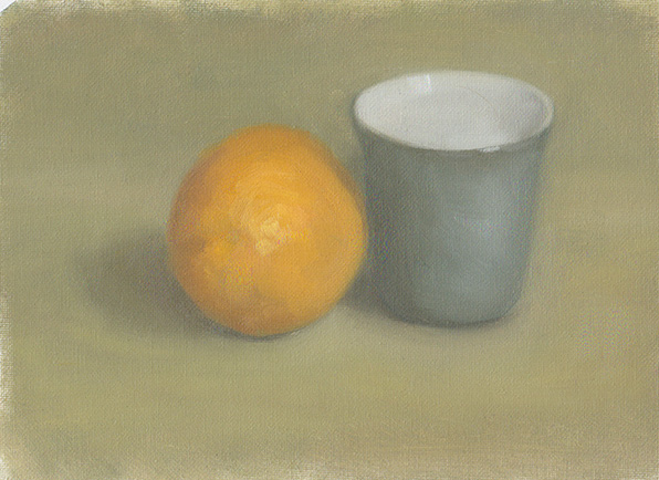 2nd American Still Life orange and blue cup