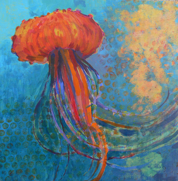 Jellyplantfish bag 10 x 10 at 596